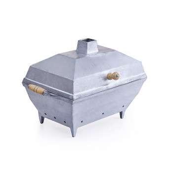 Churrasqueira quadrada de alumínio fundido