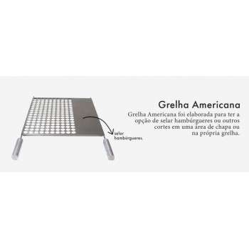 Grelha Gourmet Americana 40x50