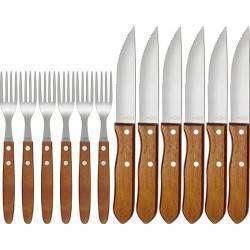 Conjunto para churrasco garfo e faca 12 peças