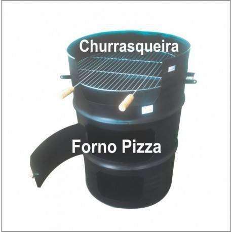 Churrasqueira Tambor + forno de pizza